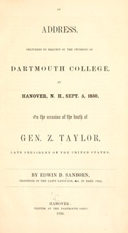 Cover of: An address