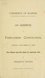 Cover of: An address at Forefathers Convocation, Sunday, December 13, 1896