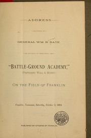Cover of: Address delivered by General Wm