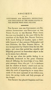 Cover of: Address of the Incorporated Society for the Conversion and Religious Instruction and Education of the Negro Slaves in the British West India Islands | Incorporated Society for the Conversion and Religious Instruction and Education of the Negro Slaves in the British West India Islands