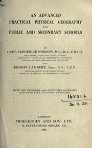 Cover of: An advanced practical physical geography for public and scondary schools