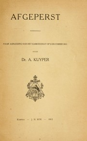 Cover of: Afgeperst