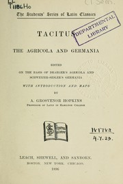 The Agricola and Germania by P. Cornelius Tacitus