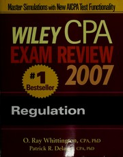 Cover of: Wiley CPA exam review 2007. | Ray Whittington