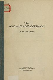 Cover of: The aims and claims of Germany