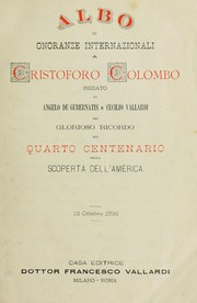Cover of: Albo di onoranze internazionali a Cristoforo Colombo