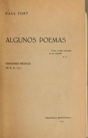 Cover of: Algunos poemas
