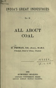 Cover of: All about coal | David Penman