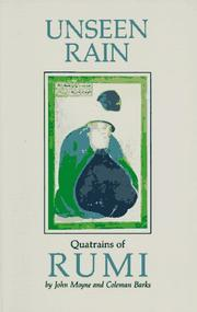 Cover of: Unseen Rain: Quatrains of Rumi
