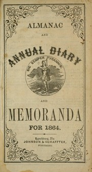Cover of: Almanac and annual diary and memoranda for 1864 |