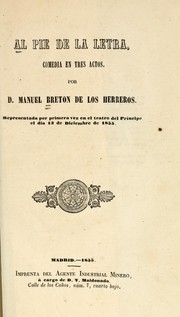 Cover of: Al pié de la letra