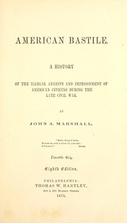 Cover of: American Bastille | John A. Marshall