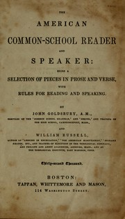 Cover of: The American common-school reader and speaker