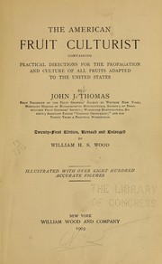 Cover of: The American fruit culturist | Thomas, John Jacob