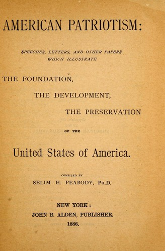 an introduction to the history of patriotism in america History of the united states  introduction early america | the about the usa  u 200 years of history (smithsonian national museum of american history).
