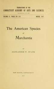 Cover of: The American species of Marchantia