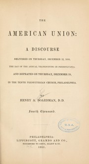 Cover of: The American union