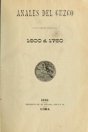 Cover of: Anales del Cuzco, 1600 à 1750