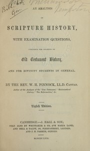 Cover of: Analysis of Scripture history | William Henry Pinnock