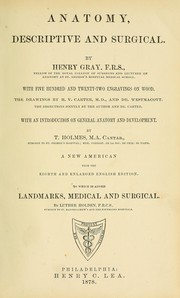 Cover of: Anatomy, descriptive and surgical | Henry Gray