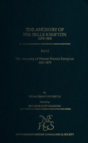 Cover of: The ancestry of Eva Belle Kempton, 1878-1908 part1