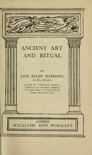 Cover of: Ancient art and ritual