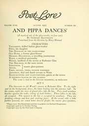 Cover of: And Pippa dances | Gerhart Hauptmann