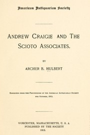Cover of: Andrew Craigie and the Scioto associates