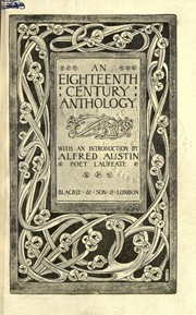 Cover of: An eighteenth century anthology