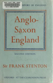 Cover of: Anglo-Saxon England | Stenton, F. M.