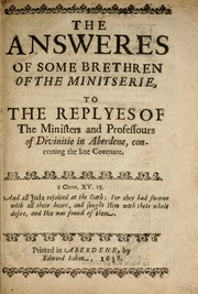 Cover of: The answeres of some brethren of the ministerie
