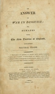 Cover of: An answer to War in disguise