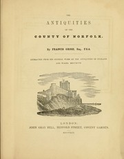 Cover of: The antiquities of the county of Norfolk