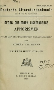 Cover of: Aphorismen