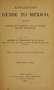 Cover of: Appletons' guide to Mexico by Conkling, Alfred Ronald