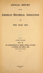 Cover of: Annual report of the American Historical Association for the year 1911