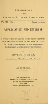 Cover of: Appreciation and interest | Fisher, Irving