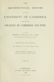 Cover of: The architectural history of the University of Cambridge