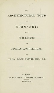Cover of: An architectural tour in Normandy