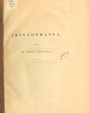 Cover of: Aristophanea