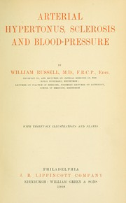 Cover of: Arterial hypertonus, sclerosis and blood-pressure