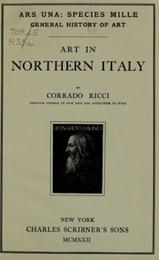Cover of: Art in northern Italy