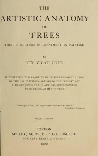 The Artistic Anatomy Of Trees 1920 Edition Open Library