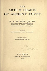 Cover of: The arts and crafts of anciety Egypt