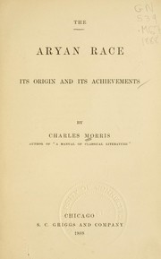 Cover of: The Aryan race: its origins and its achievements.