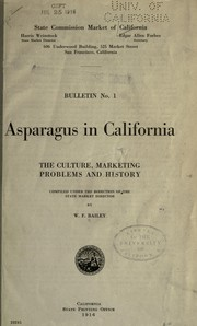 Asparagus in California by Bailey, W. F.