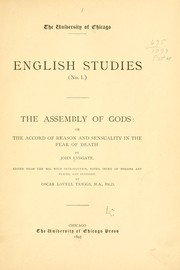 Cover of: The assembly of gods: or The accord of reason and sensuality in the fear of death | John Lydgate
