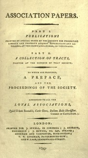 Association papers by Society for Preserving Liberty and Property against Republicans and Levellers