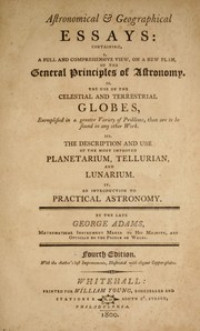 Cover of: Astronomical & geographical essay