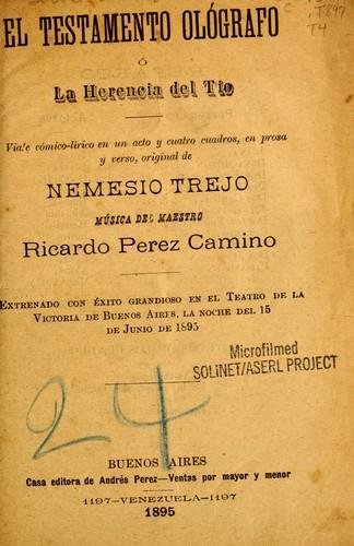 el testamento ol u00f3grafo  1895 edition